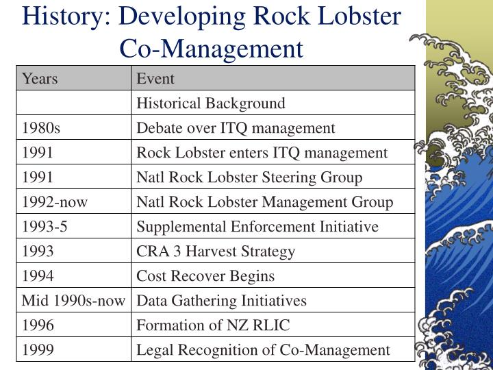 History: Developing Rock Lobster Co-Management
