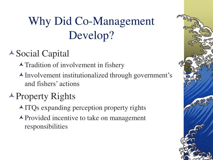 Why Did Co-Management Develop?