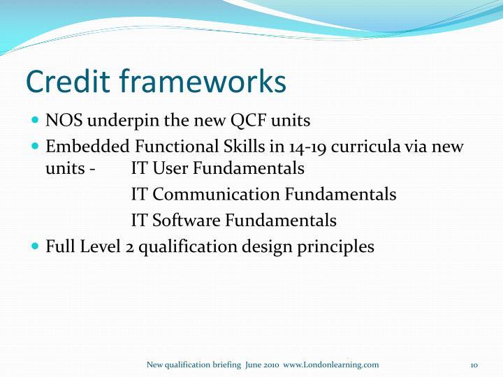 Credit frameworks
