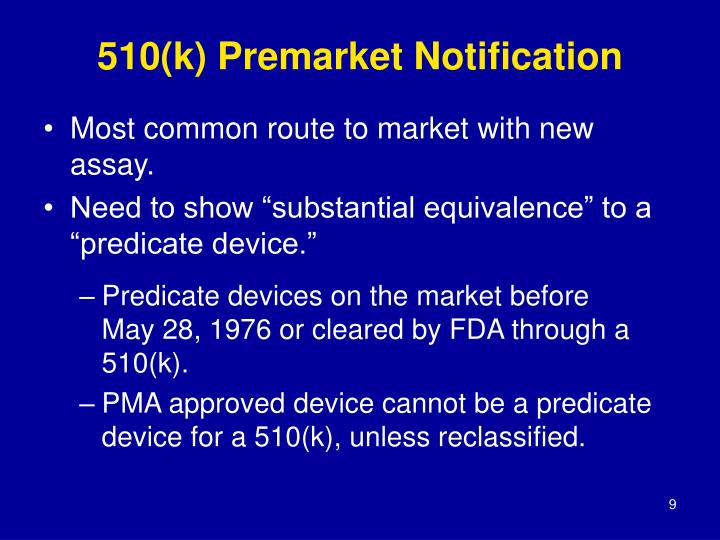 510(k) Premarket Notification