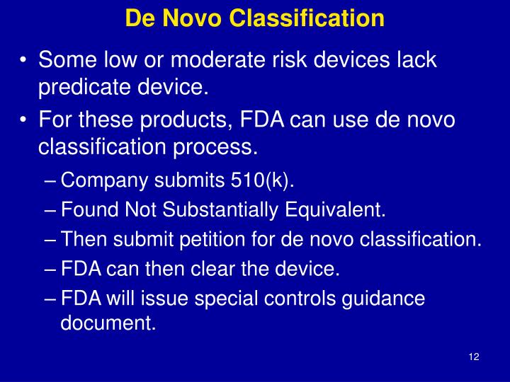 De Novo Classification