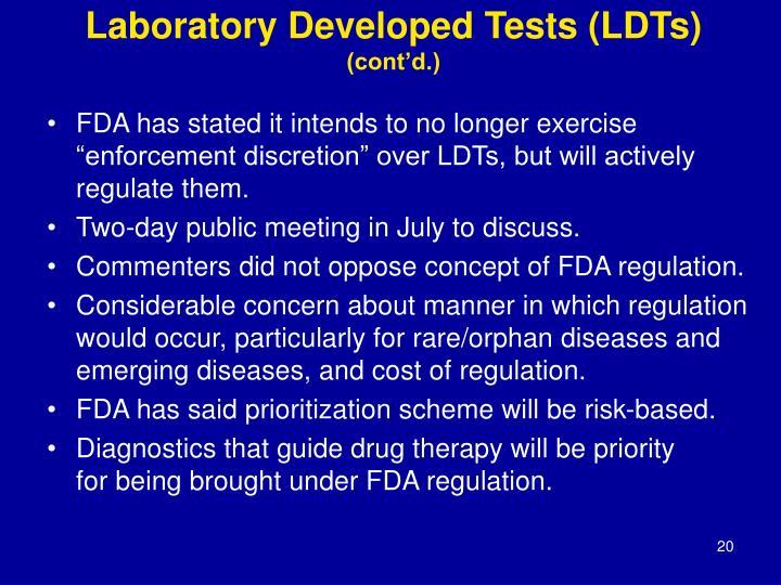 Laboratory Developed Tests (LDTs)