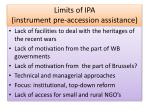 limits of ipa instrument pre accession assistance