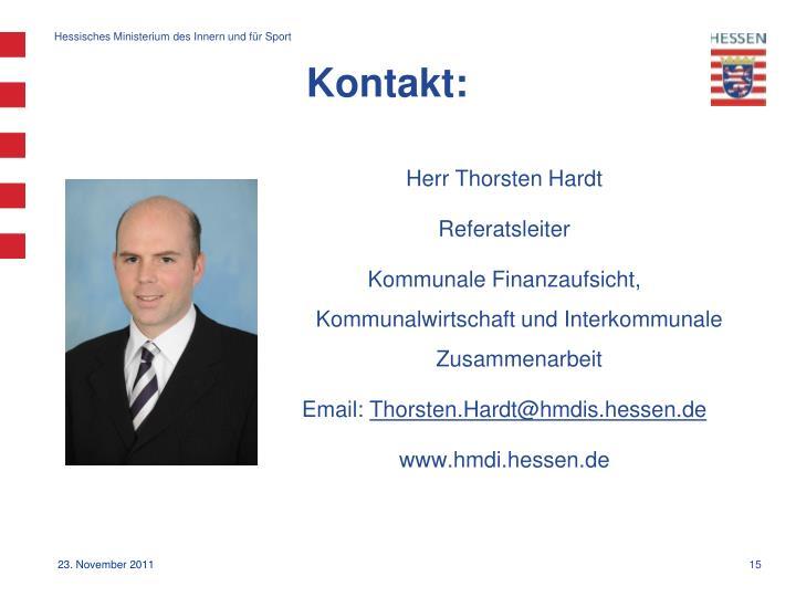 Herr Thorsten Hardt