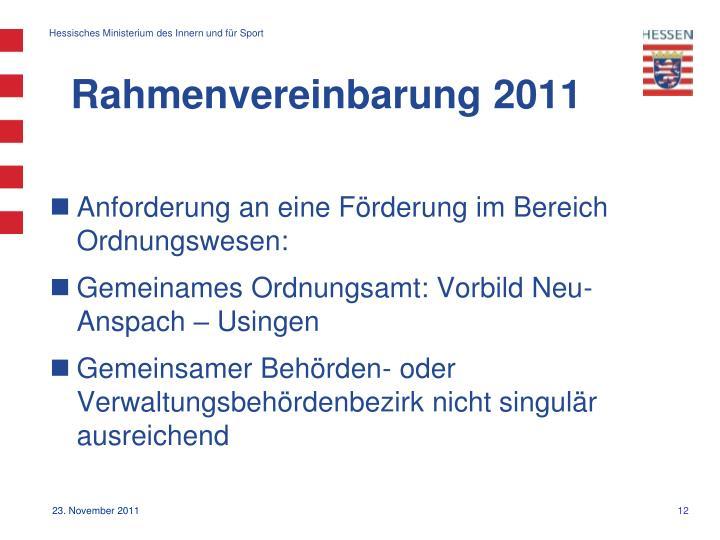 Rahmenvereinbarung 2011