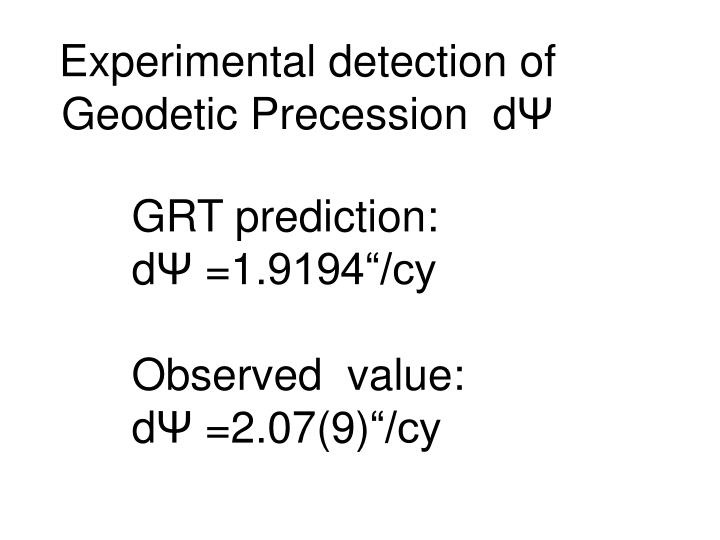 Experimental detection of