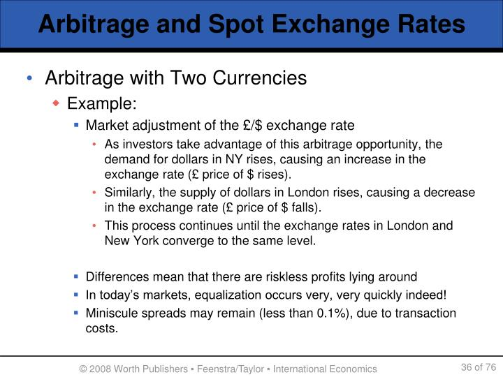 Arbitrage and Spot Exchange Rates