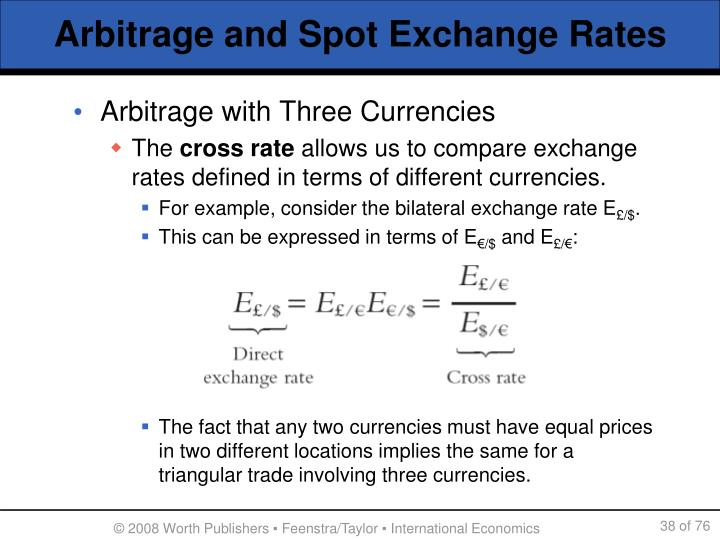 Arbitrage with Three Currencies