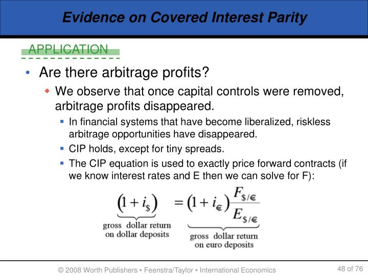 Evidence on Covered Interest Parity