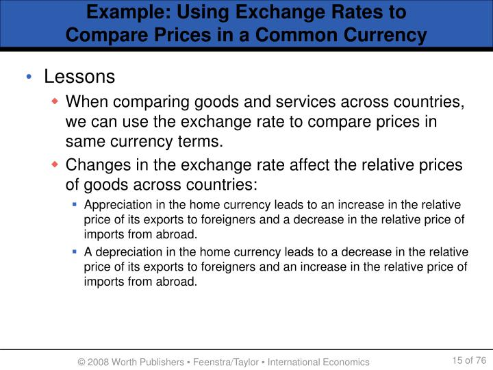 Example: Using Exchange Rates to
