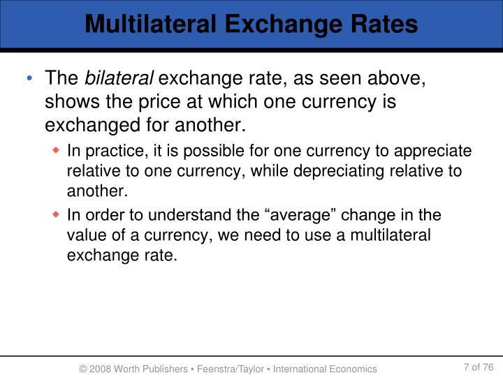 Multilateral Exchange Rates