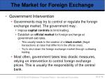 the market for foreign exchange6