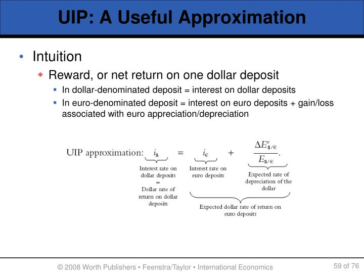 UIP: A Useful Approximation