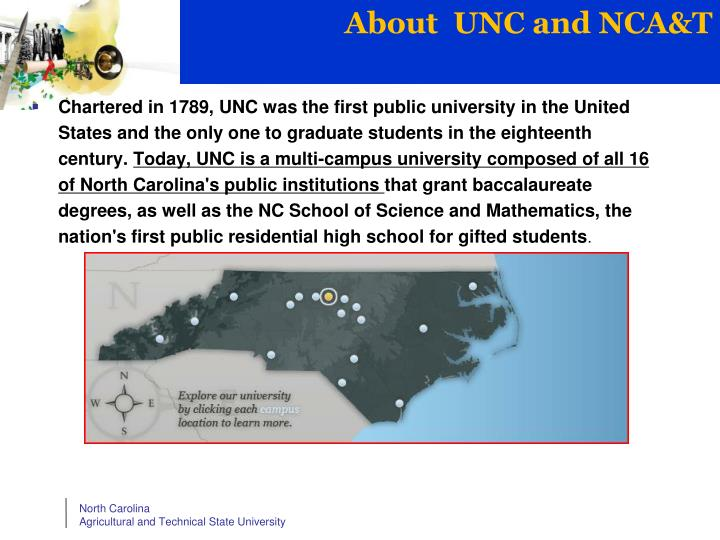 About  UNC and NCA&T