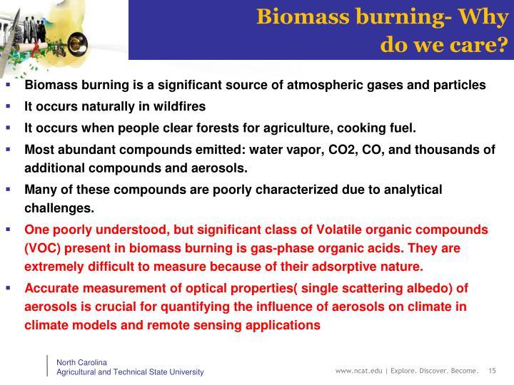 Biomass burning- Why do we care?