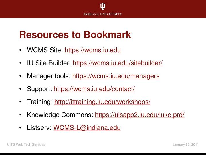 Resources to Bookmark