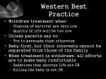 western best practice
