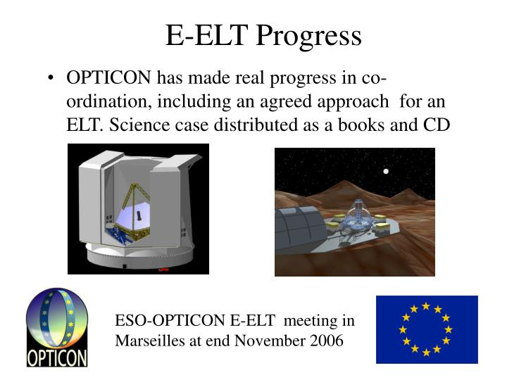 E-ELT Progress