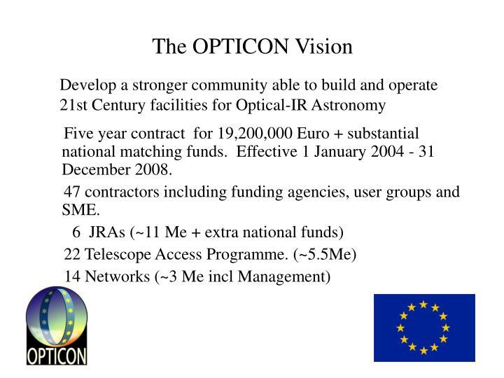 The OPTICON Vision