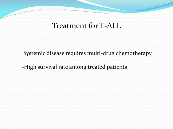 Treatment for T-ALL
