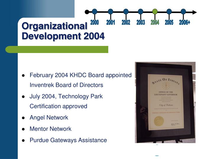 February 2004 KHDC Board appointed Inventrek Board of Directors