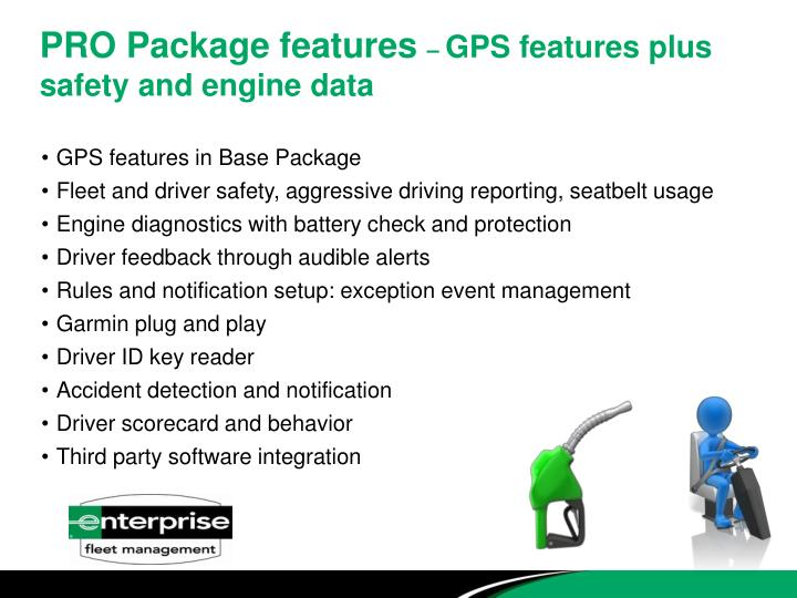 PRO Package features