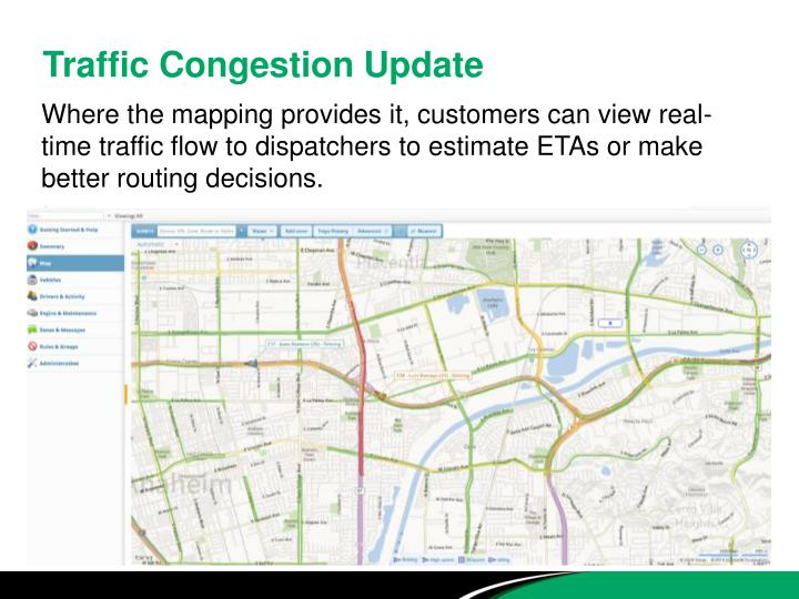 Traffic Congestion Update