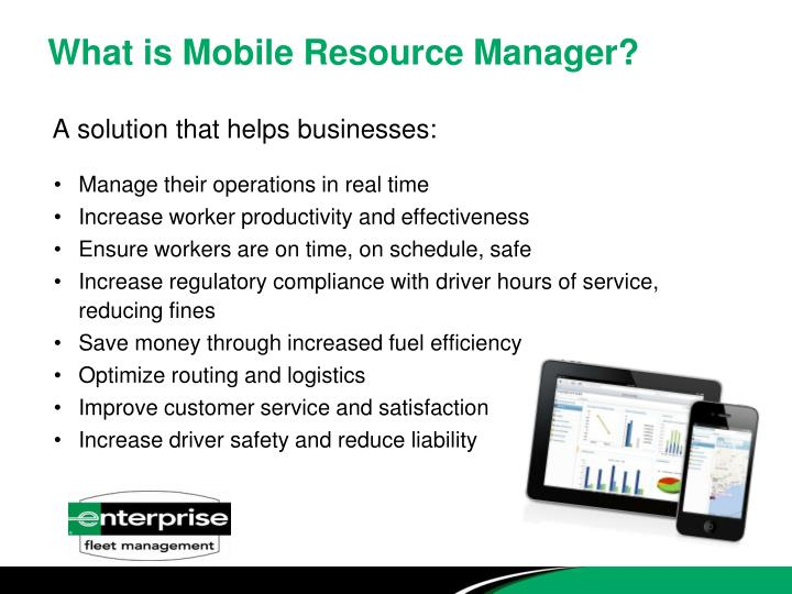 What is mobile resource manager