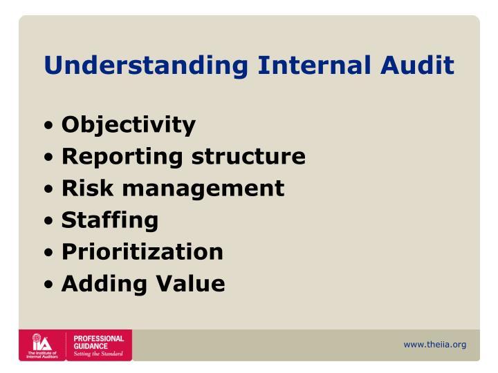Understanding Internal Audit