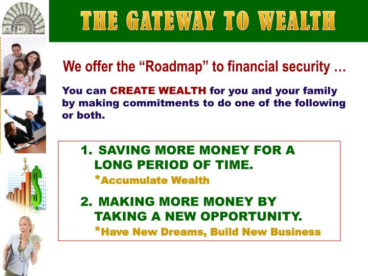 THE GATEWAY TO WEALTH