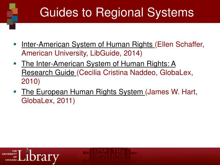Guides to Regional Systems