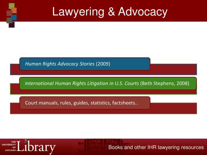 Lawyering & Advocacy