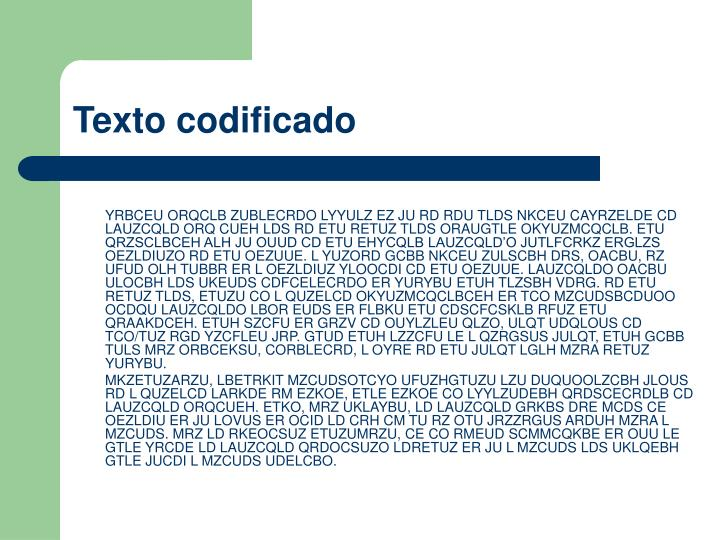 Texto codificado
