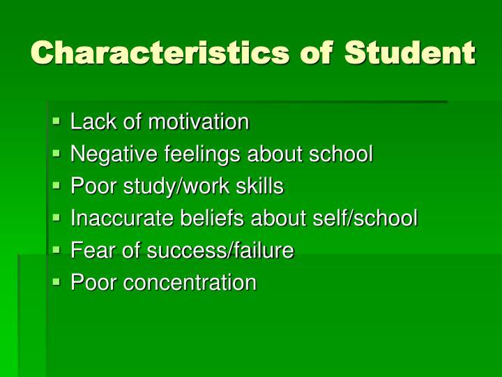Characteristics of Student
