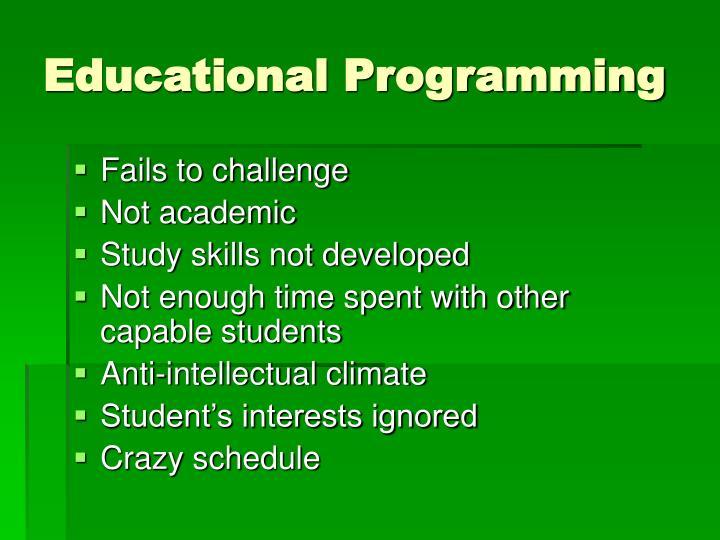 Educational Programming