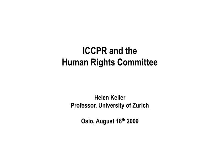 ICCPR