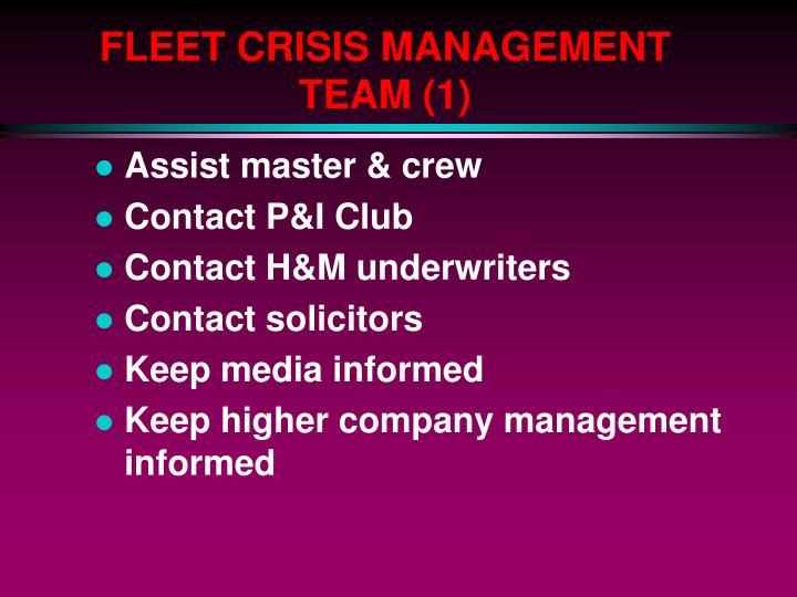 FLEET CRISIS MANAGEMENT TEAM (1)
