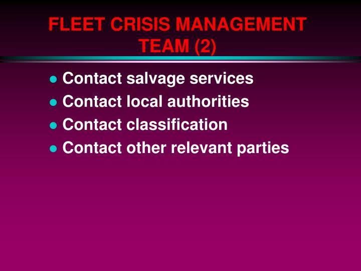 FLEET CRISIS MANAGEMENT TEAM (2)