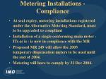 metering installations compliance