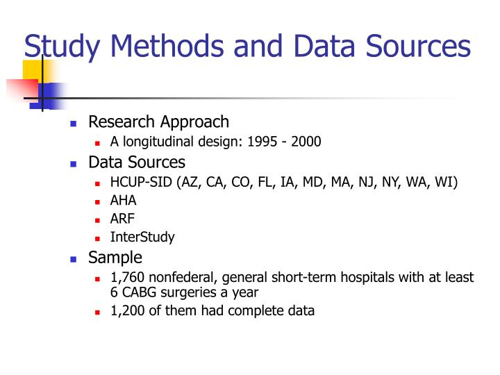 Study Methods and Data Sources