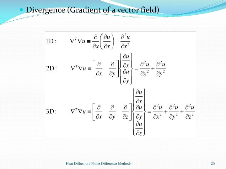 Divergence (Gradient of a vector field)