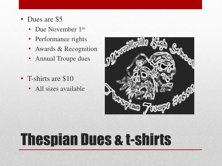 Dues are $5