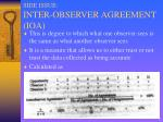 side issue inter observer agreement ioa
