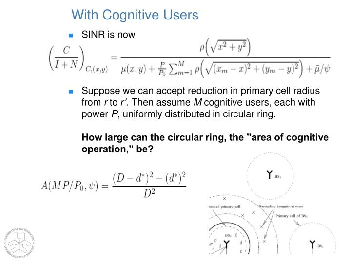 With Cognitive Users