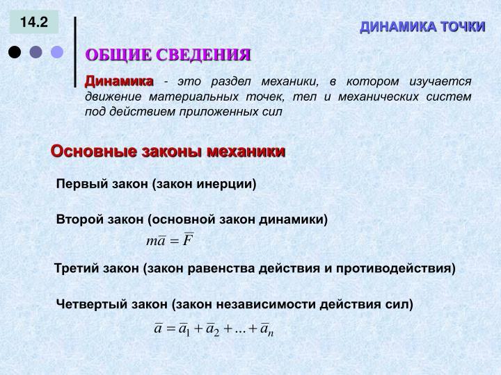 Второй закон (основной закон динамики)