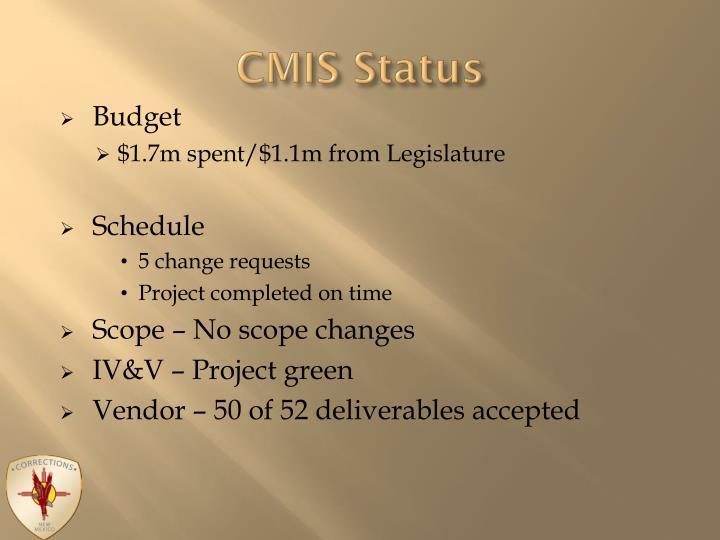 CMIS Status