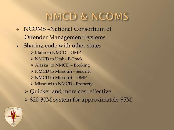 NMCD & NCOMS