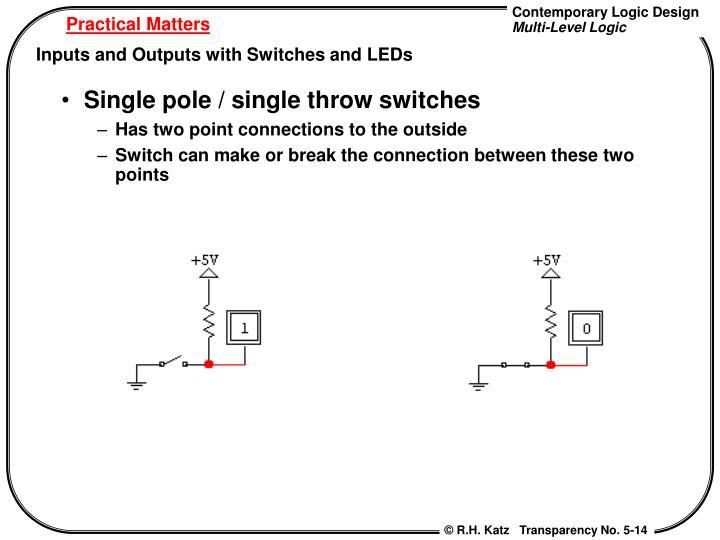 Single pole / single throw switches