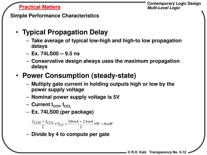 Typical Propagation Delay
