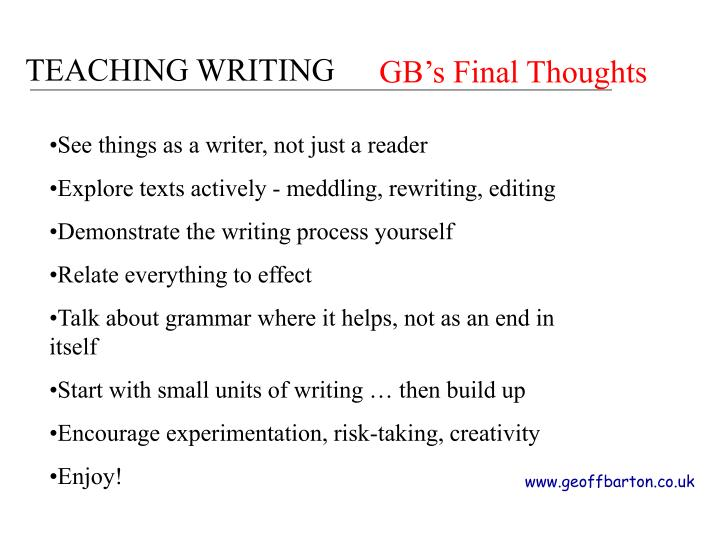 GB's Final Thoughts